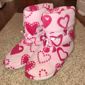 Shoes - ❤️PAJAMAGRAM heart slippers❤️