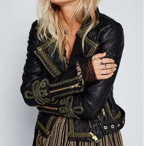 Free People Jackets & Blazers - Free People bang bang vegan Moto jacket black NWT