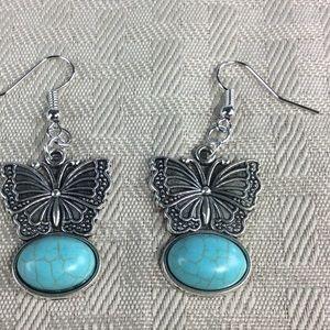 Jewelry - Ew Blue Butterfly Earrings