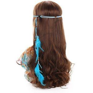 Accessories - Blue Feather Headband