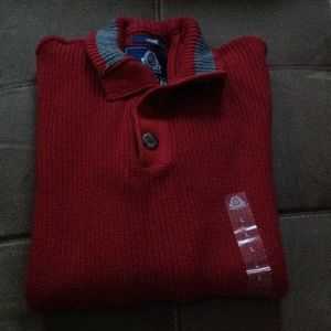 American Rag Other - Red and gray ribbed sweater