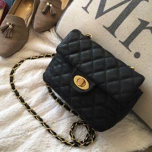 Rebecca Minkoff Handbags - Black quilted flap shoulder Crossbody bag