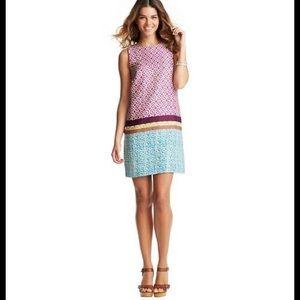Loft Linen geometric tile print shift dress