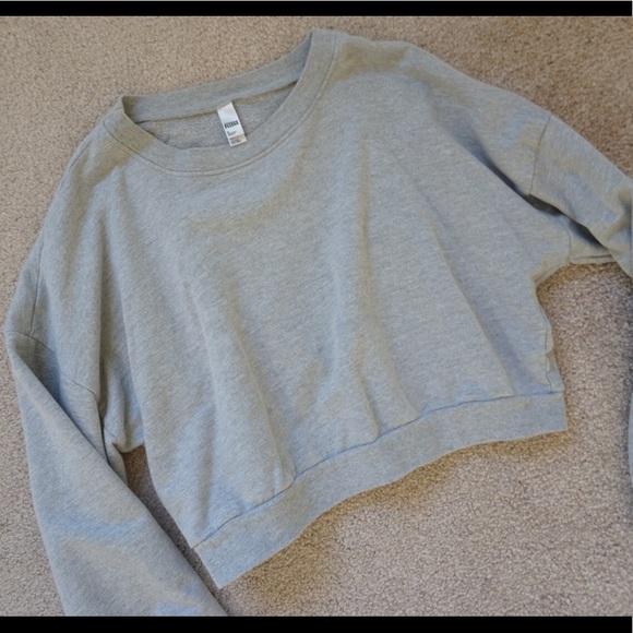 American Apparel Tops - American Apparel Grey Crew Neck Cropped Sweatshirt