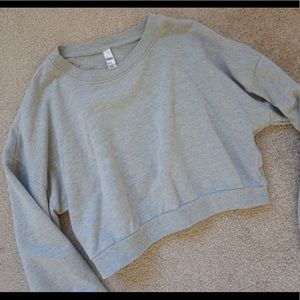 American Apparel Tops - American Apparel Grey Crew Neck Cropped Sweatshirt