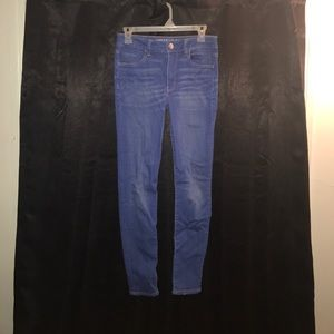 Bright Blue High Rise Jeggings