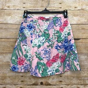 American Apparel Floral Lightweight Skater Skirt