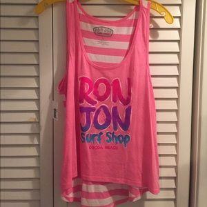 Ron Jon surf shop tank top pink size L