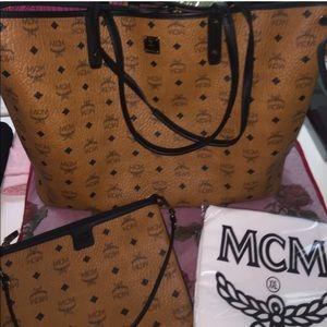 MCM Handbags - NWT Large MCM bag