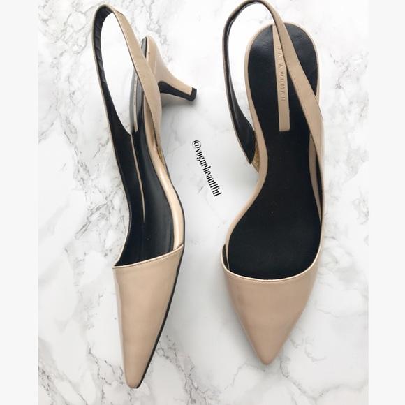 de1b8ea394d8 Zara Slingback Nude Kitten Heels. M 591b997d620ff76c4a18806d