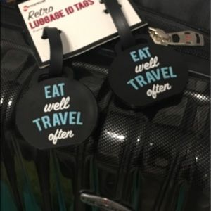 Accessories - ! BNWT RETRO EAT WELL TRAVEL OFTEN LUGGAGE TAG🌎✈️