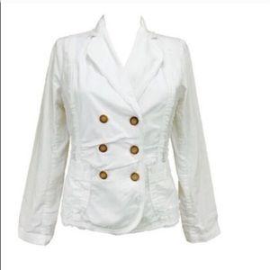 Sundance Jackets & Blazers - Sundance White Double Breasted Blazer Jacket