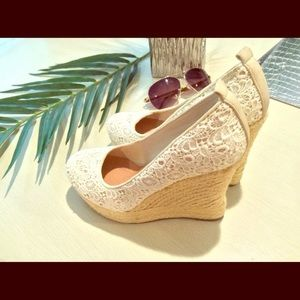 Aldo Shoes - Aldo Espadrilla Lace Wedges