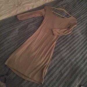 Solemio Dresses & Skirts - Solemio soft bodycon dress with crisscross back