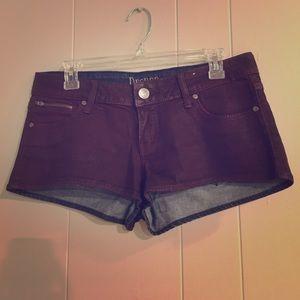 Decree Pants - Maroon decree short shorts