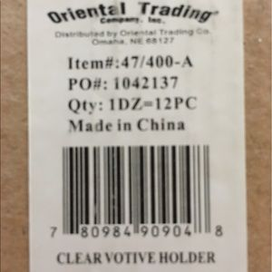 oriental trading Accents - Votive candle glass holders