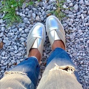 Metallic Zara Sneakers!!