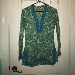Tops - TORY BURCH- vintage patterned blouse