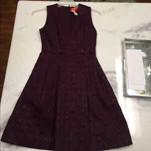 Plum textured dress