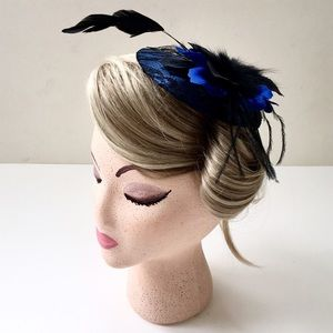 Accessories - Feather Flowers & Lace Special Occasion Fascinator