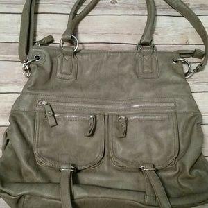 Deena & Ozzy Handbags - Taupe Tote Bag