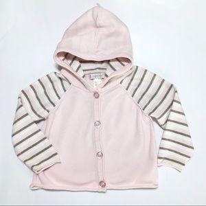 Angel Dear Other - Angel Dear Pink Stripe Sweater Hoodie