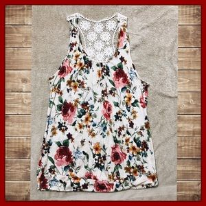 Wet Seal Tops - Wet Seal Razor Backed Lace Tank Top