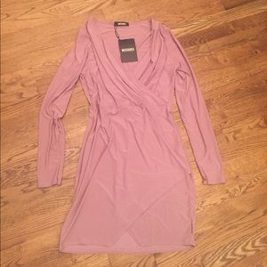 Missguided Dresses & Skirts - NWT Mauve V-neck Dress