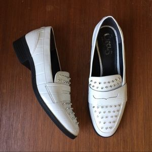 Circus by Sam Edelman Shoes - Circus by Sam Edelman White Studded Loafers