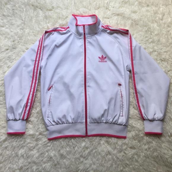 e4d0f167450 adidas Jackets   Blazers -  Adidas  White   Pink Tracksuit - M