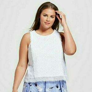 WHO WHAT WEAR Tops - NWT || Fringe Tank