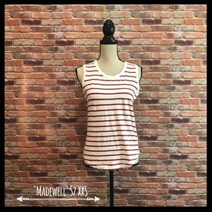 Madewell Whisper Cotton Muscle  Striped Tank