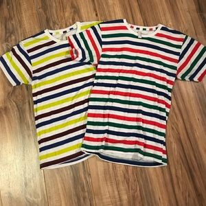 American Apparel Other - TWO American apparel striped where's Waldo tees
