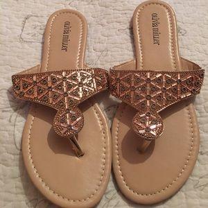 Charlotte Russe Embellished Slide Sandals