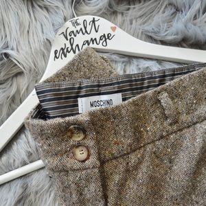 MOSCHINO Aeffe Spa Tweed wide leg trousers