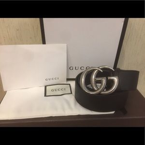 Gucci Other - NEW Gucci Silver Brass Belt!!!!!!!!