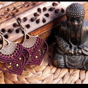 Jewelry - Macramé Boho earring/Spiritual Jewelry