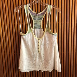 Free people knit halter tank top small