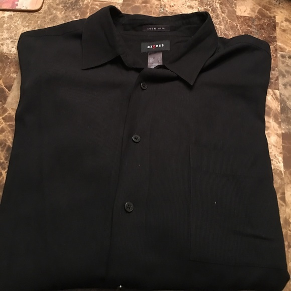 axcess axcess 100 silk black dress shirt from womens