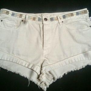 Free People Pants - NWT $98 Free People Embroidered Waist Shorts