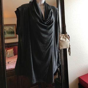 Doublju Sweaters - Dark grey vest cardigan