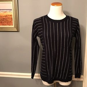 [J. Crew] Collection Cashmere Pinstripe Sweater