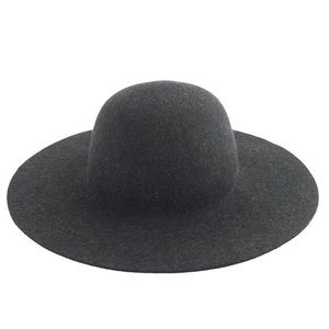 Wool Floppy Hat in Navy