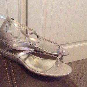 alfani Shoes - Alfa I. Sandles size 10  silver  color brand New