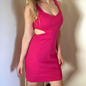 Express Dresses & Skirts - Pink Express cut out dress