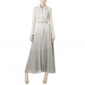Monika Chiang Dresses & Skirts - Monika Chiang Dip Dye Raw Edge Silk Dress