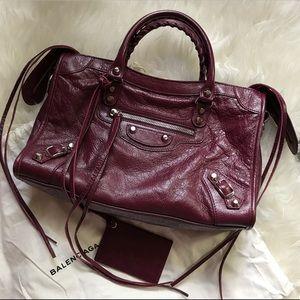 Balenciaga Handbags - FW16 Balenciaga Classic City Small Violet Prune