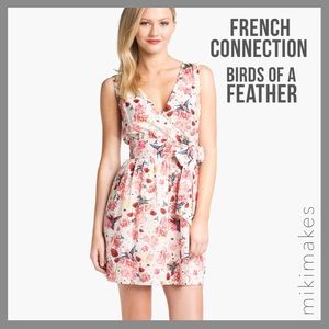 [ french connection ]  bird & flower printed dress