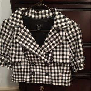 Alyx Jackets & Blazers - Beautiful Black and White Plaid 2 Button Breasted