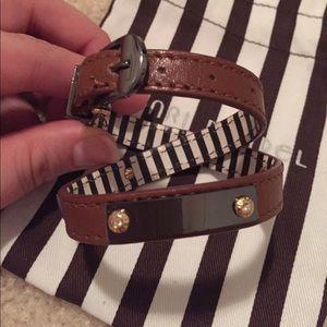 Henri Bendel Brown Leather Wrap Bracelet
